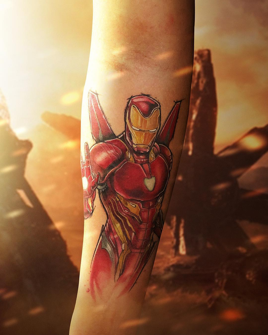 Тони Старк в Новом Костюме Железного Человека