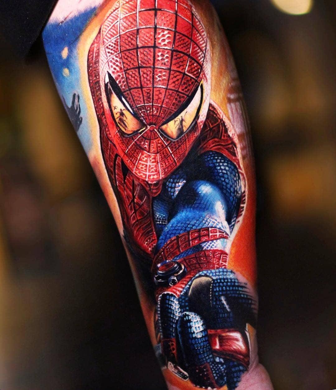 Большая Татуировка Человека Паука