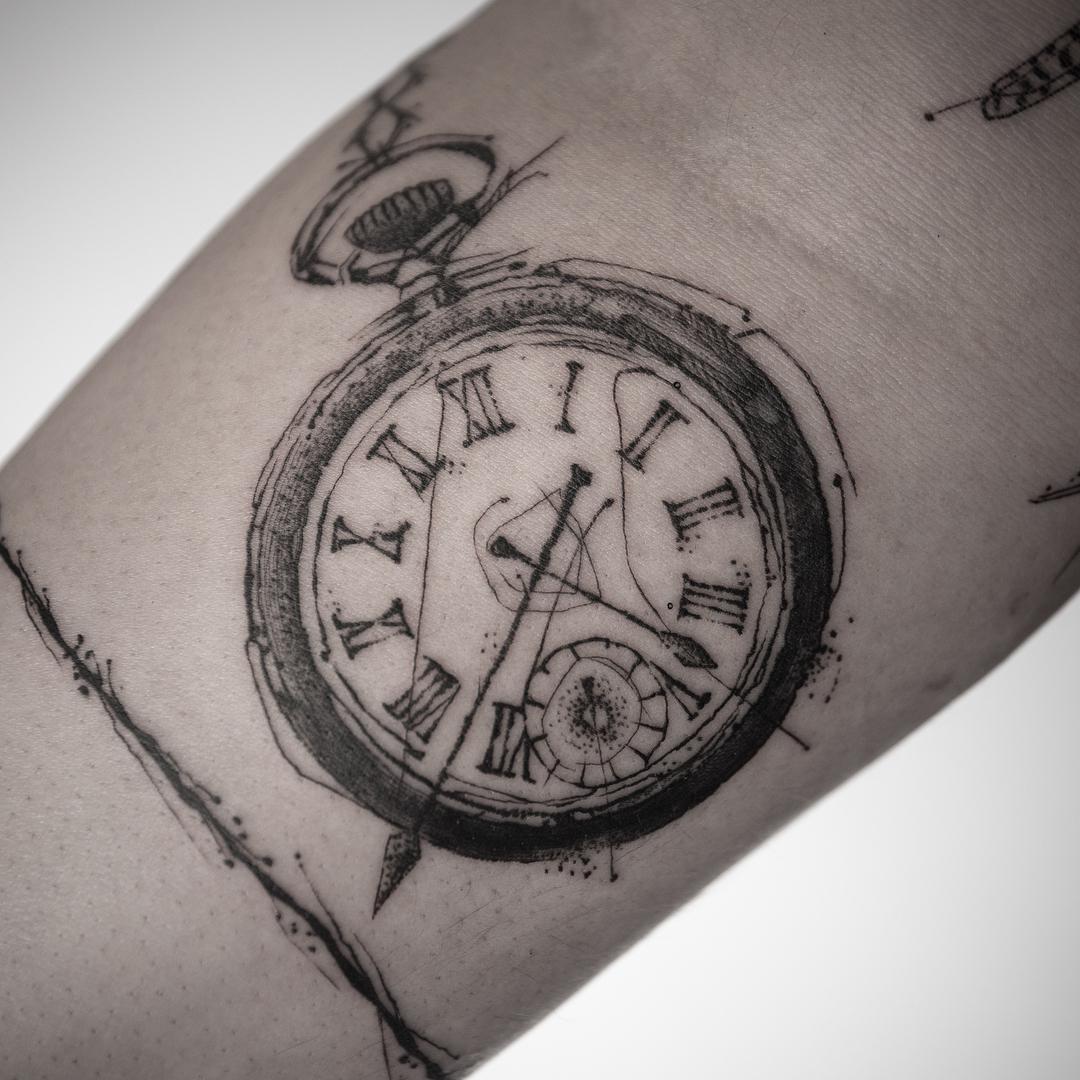 Татуировка Карманные Часы на Руке