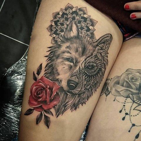 Значение Тату Волк для Женщин