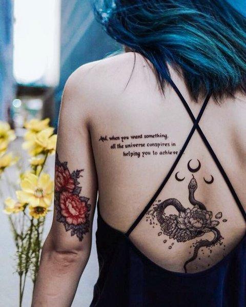 Что означает татуировка змея для мужчин? Тату змея, значение для девушек