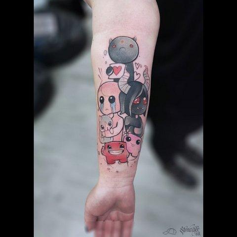 Игровая тату на руке