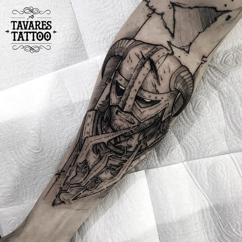 Игровая тату Драконорожденный Скайрим