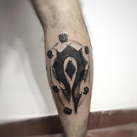 Игровая тату эмблема орды Варкрафт