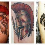 50 фото тату шлема спартанца для мужчин и женщин