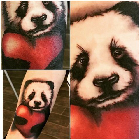 Милая панда с сердцем