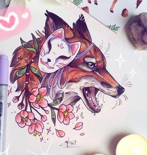 Лис Маска и Цветки Сакуры