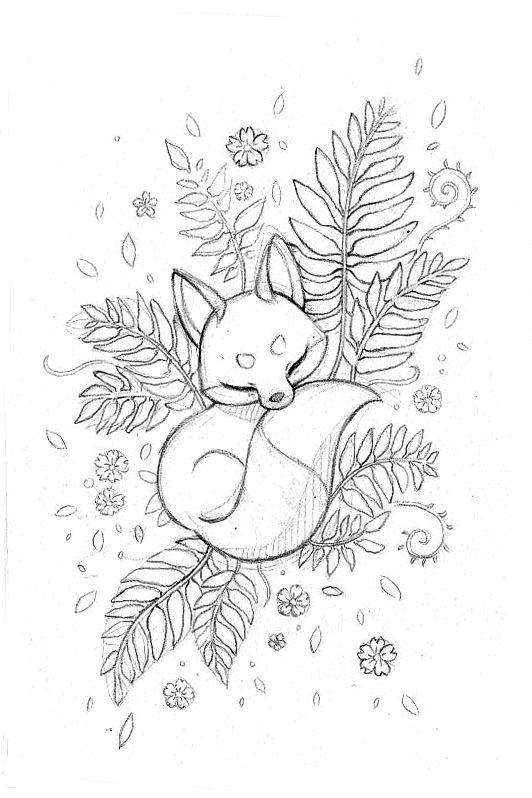 Рисунок Спящей Лисы