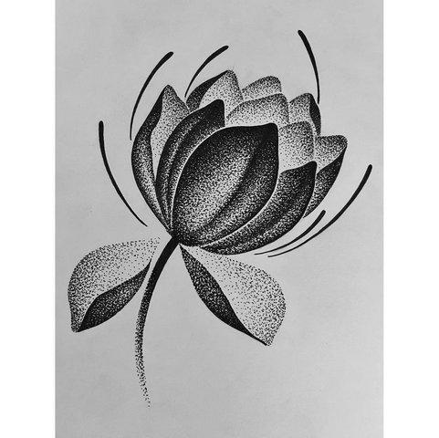 Цветок Лотоса из Точек