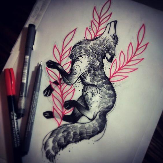 Лиса и Красные Растения