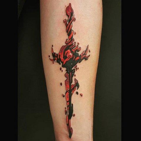 Красивая Татуировка Кровавого Меча
