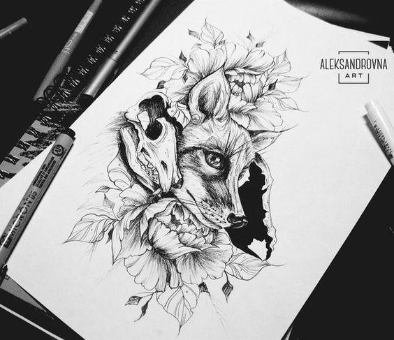 Красивая Лисица и Череп