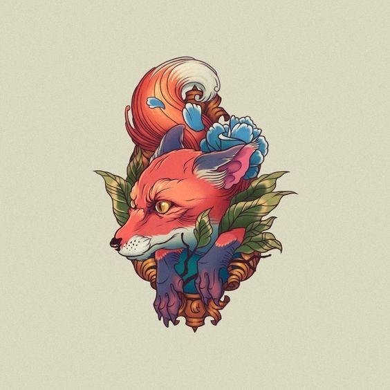 Женский Эскиз Татуировки Лисица