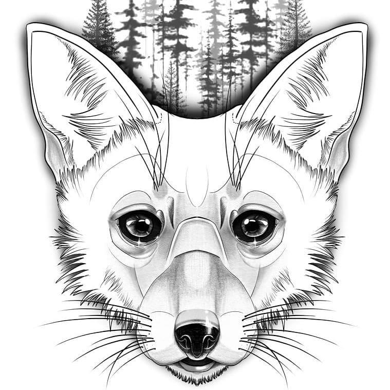 Голова Хищной лисы