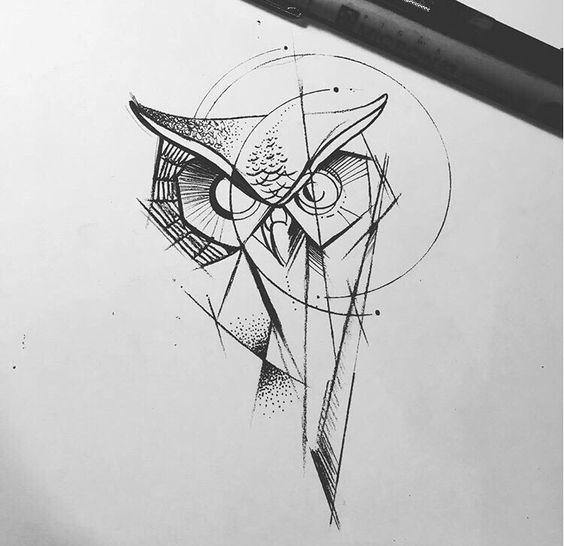 Стильная Геометрическая сова