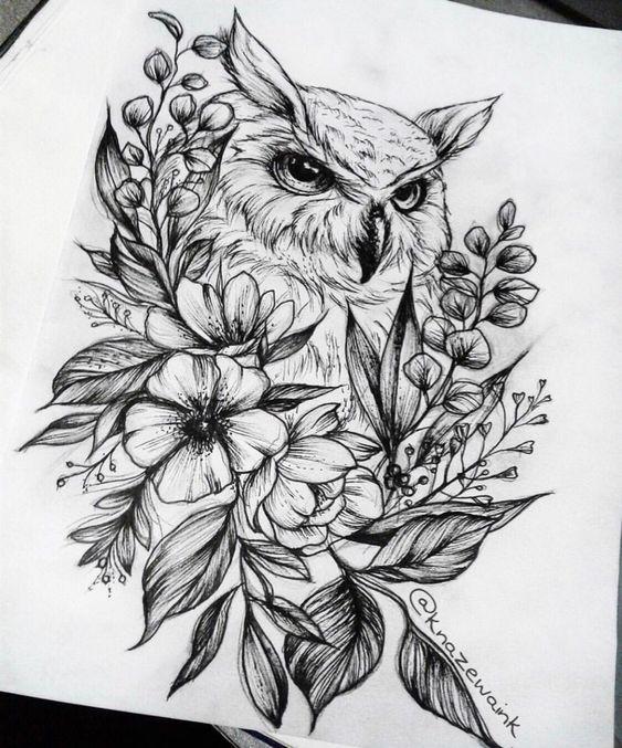 Птица в букете цветов