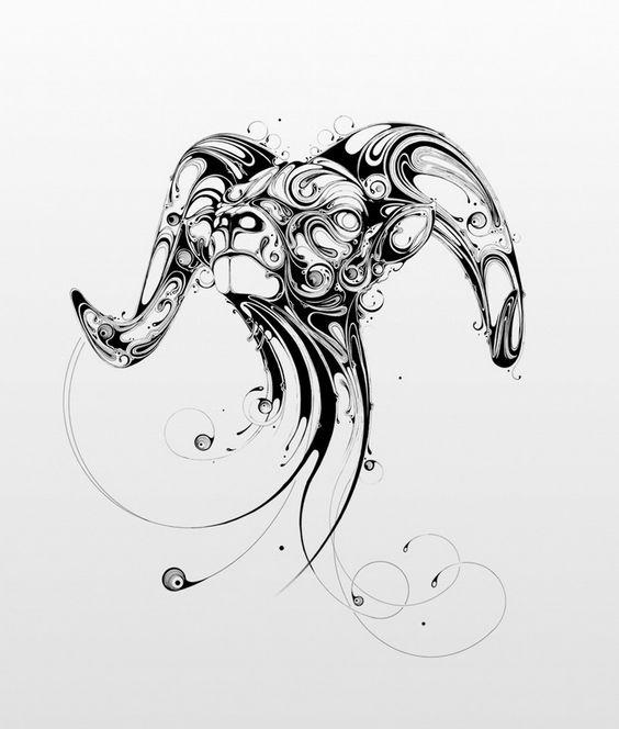 Крутой Эскиз Татуировки Овен