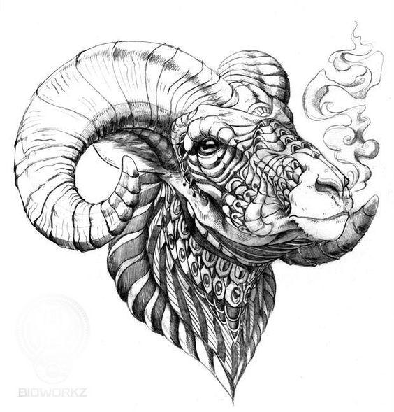 Голова Овна с Узорами