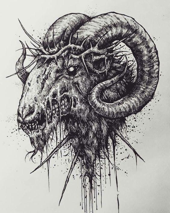 Рисунок Овен Зомби