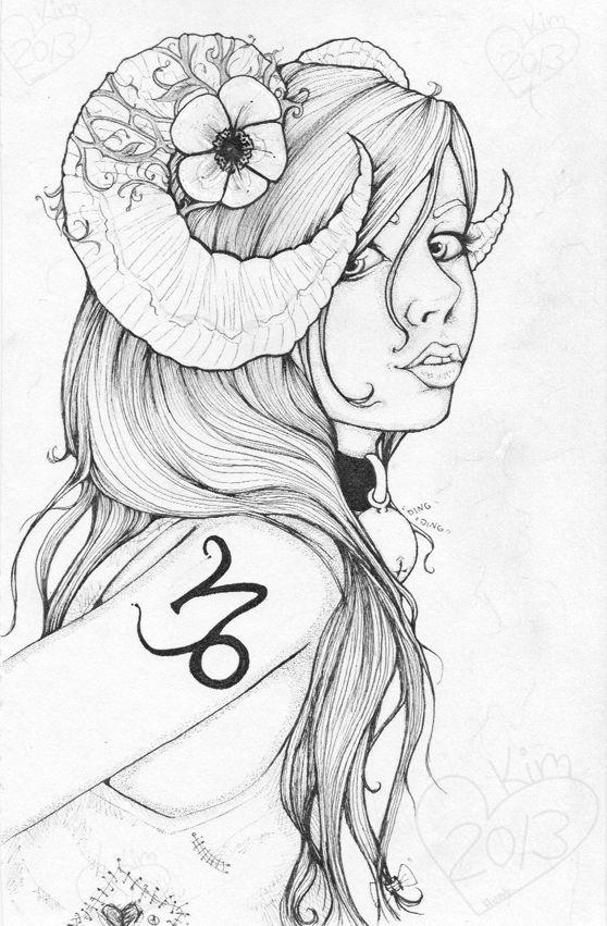 Девушка Овен с Цветком
