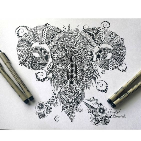 Рисунок Овен из Орнамента и Узоров