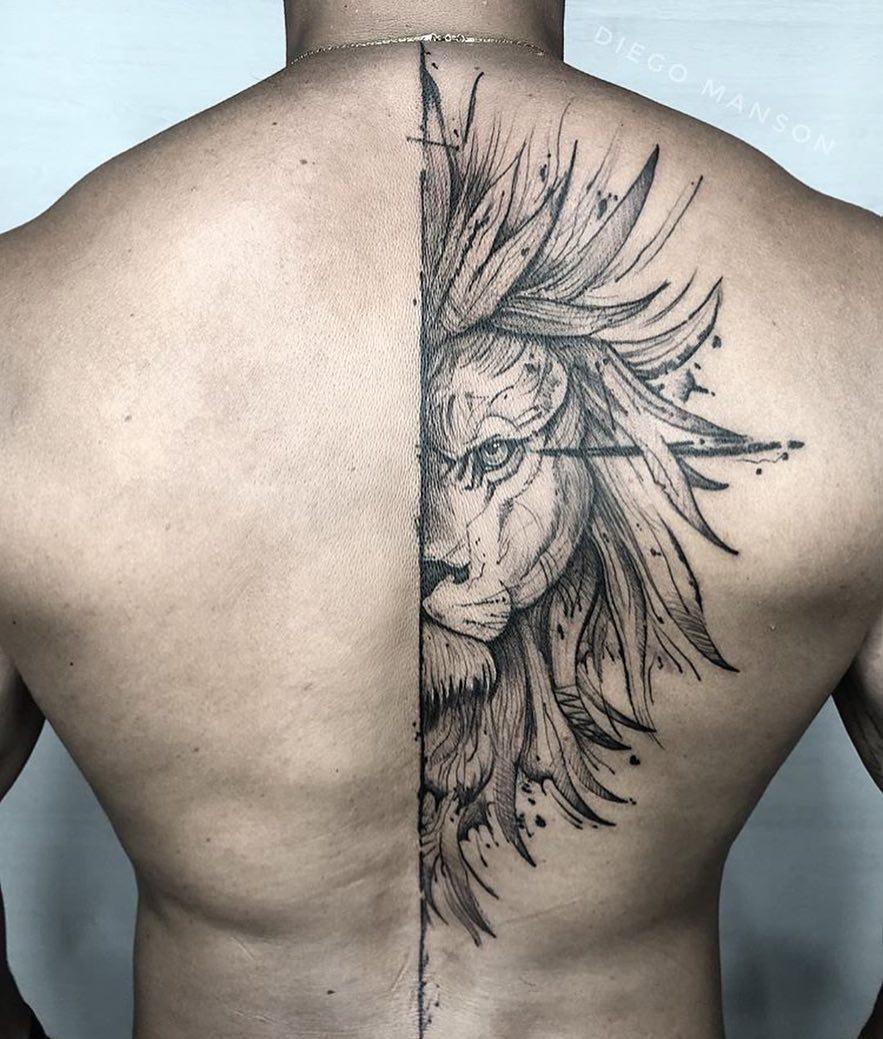 Top акварельные тату на спине