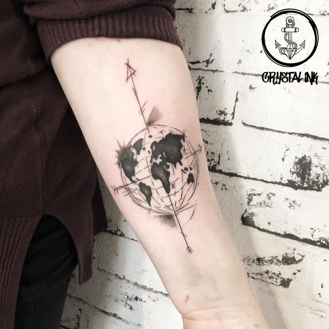 Татуировка Стрела и Земля