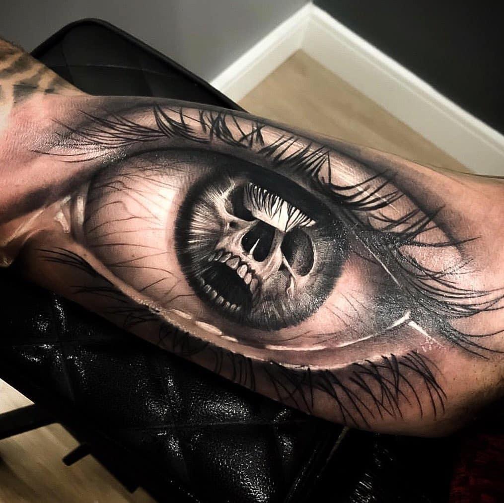 Татуировка Глаз и Череп