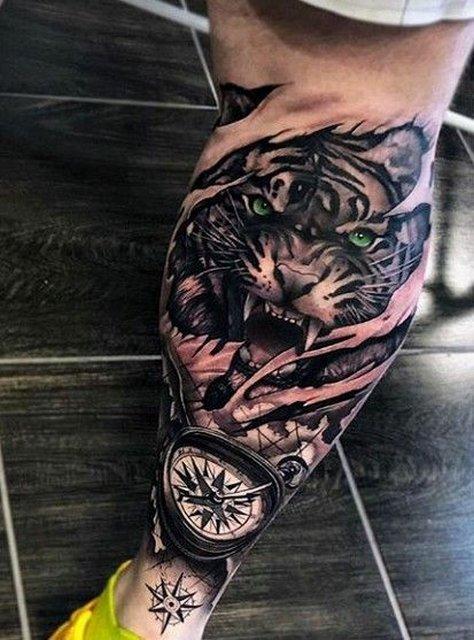 Большая Татуировка Хищника для Парней
