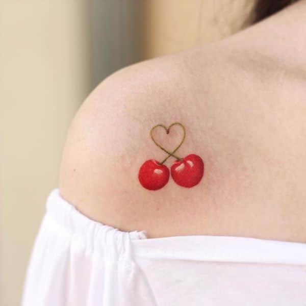 Татуировка с Вишней для Женщин