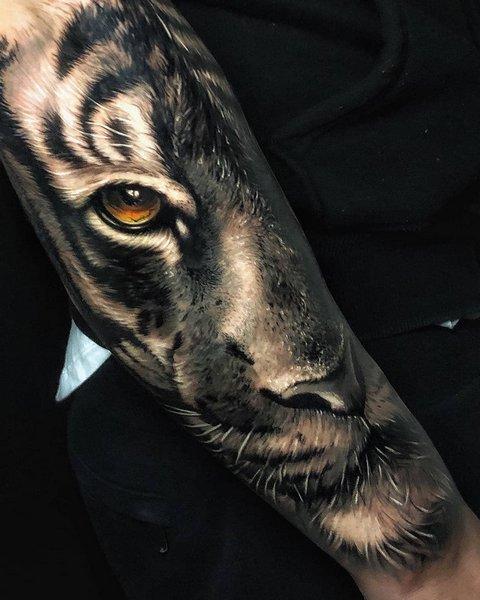 Объемный Рисунок Тигра для Мужчин