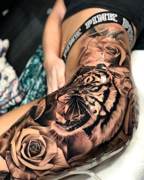 Татуировка с Тигром на Руке для Мужчин