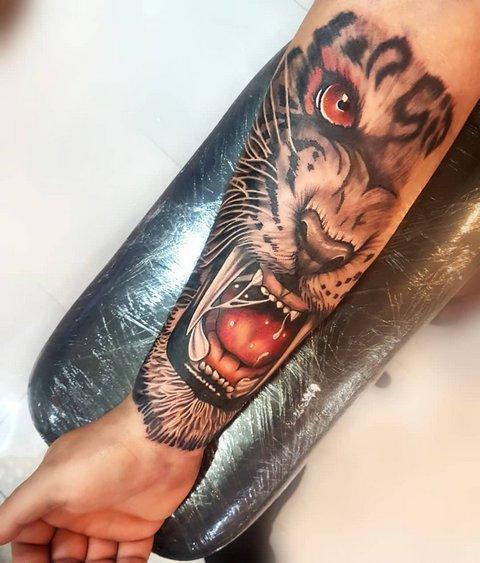 Большой Рисунок Тигра для Парней