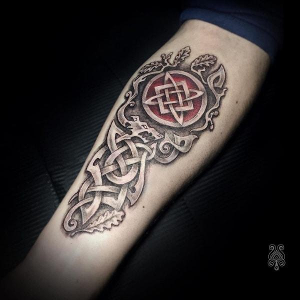 Татуировка Звезда Руси на Предплечье